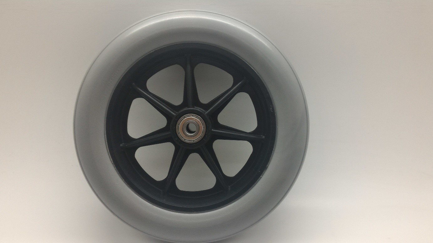 Wheelchair wheel 175mm with plastic rim