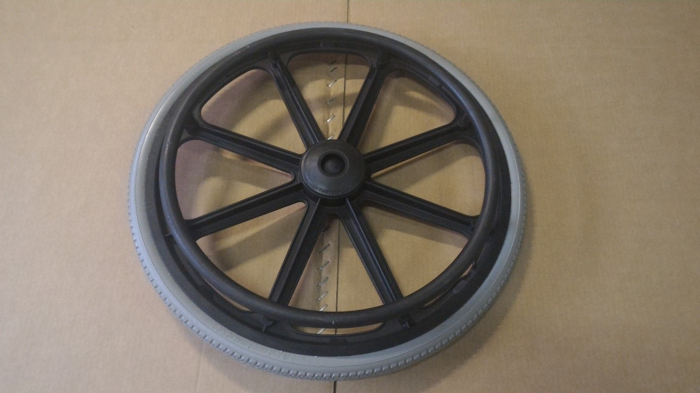 "Wheelchair wheel 20"" with plastic rim"
